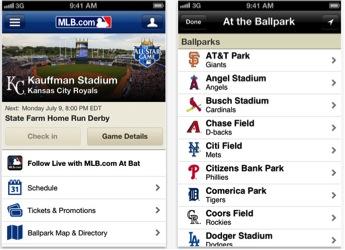 MLB At The Ballpark Screenshot