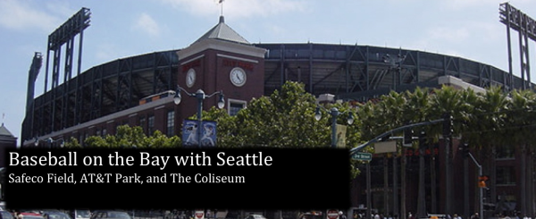 Safeco Field, AT&T Park and The Coliseum