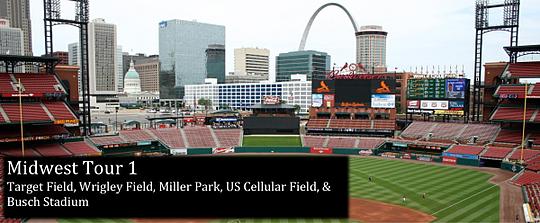 Midwest Tour 1: Target Field, Wrigley Field, Miller Park, US Cellular Field, & Busch Stadium