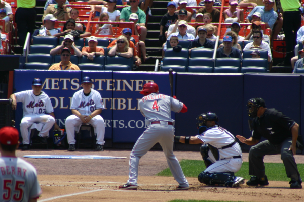 Brandon Phillips at bat at Shea Stadium