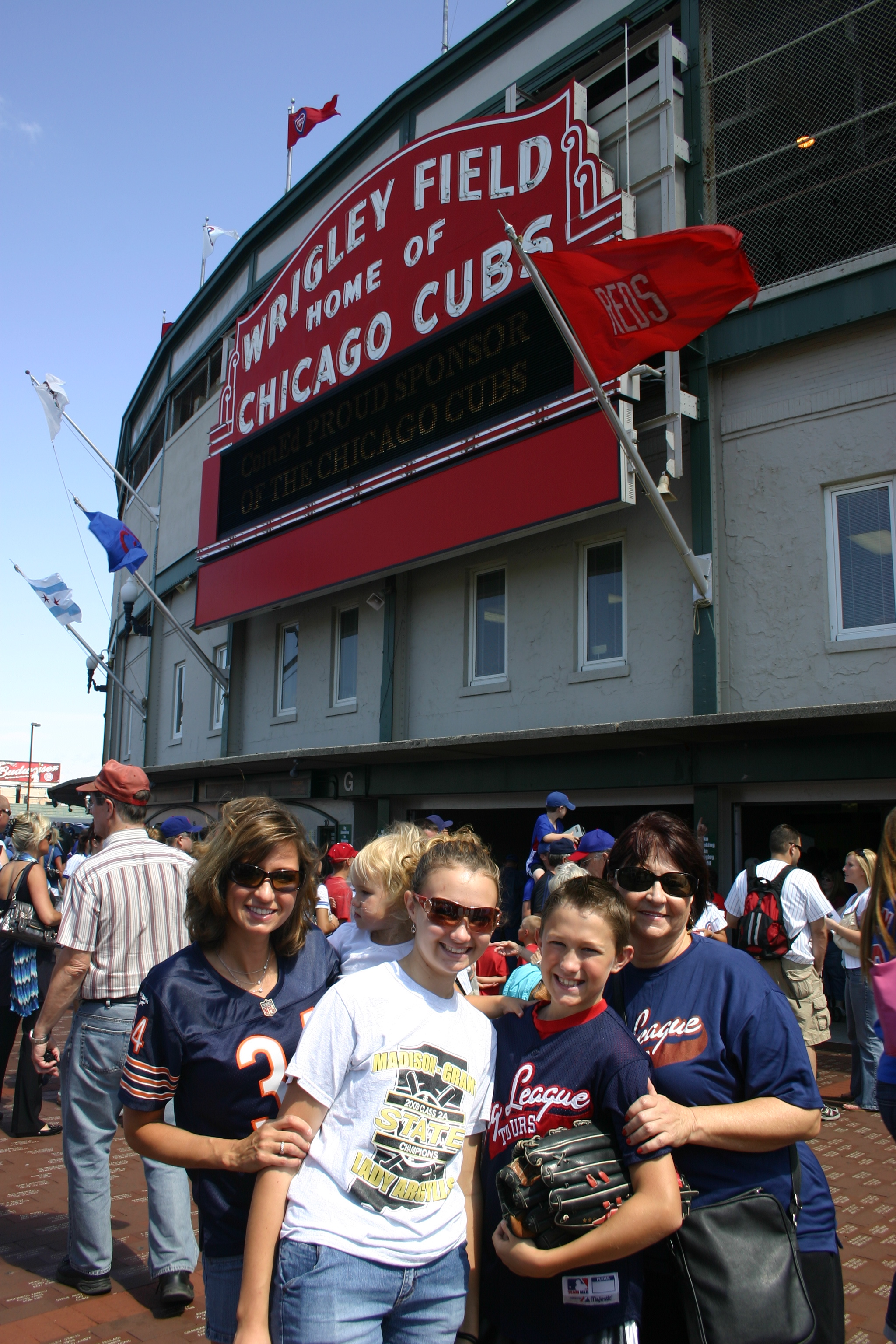Outside Wrigley Field