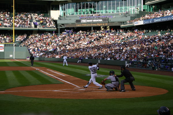 Helton smashes homer at Coors Field