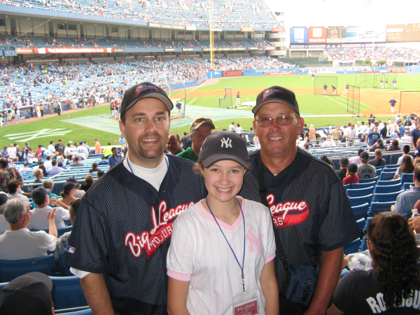 Dad and daughter with me at Yankee Stadium
