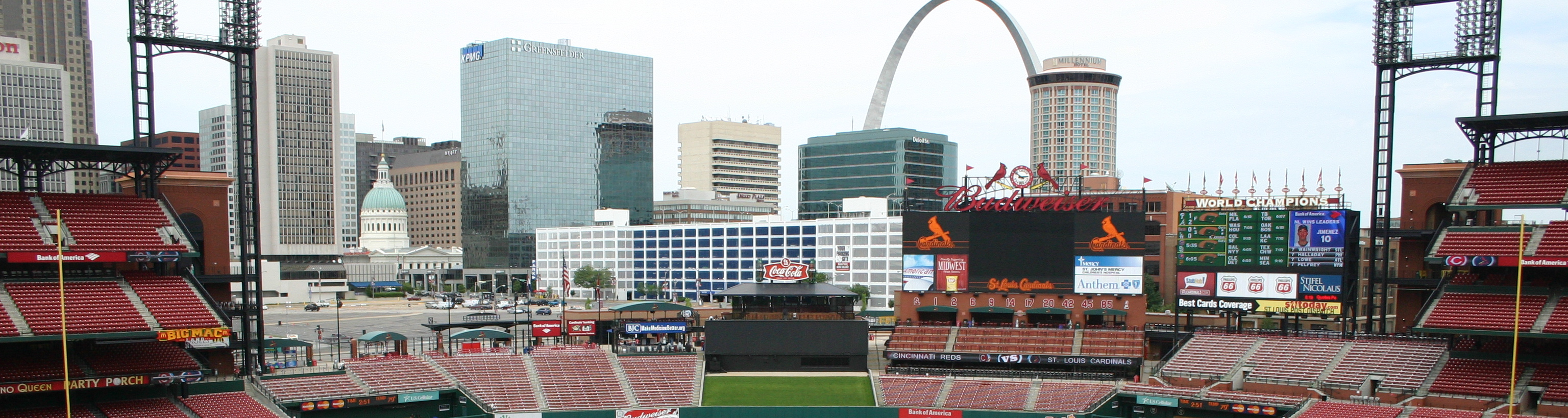 Busch Stadium,midwest baseball tour,sports trips and tours