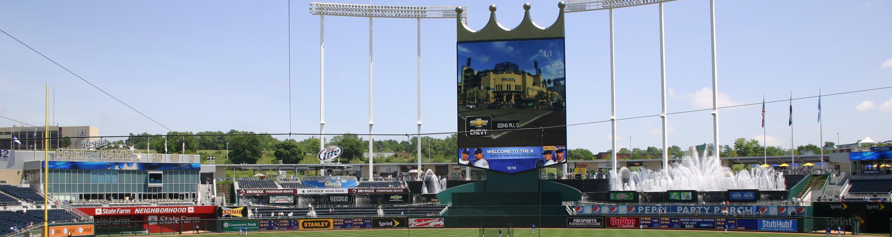 Kauffman Stadium,Royals,baseball vacation packages