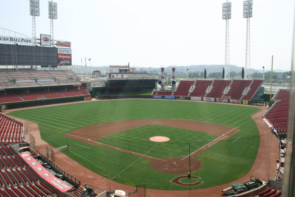 Great American Ball Park - view from the press box while on a stadium tour