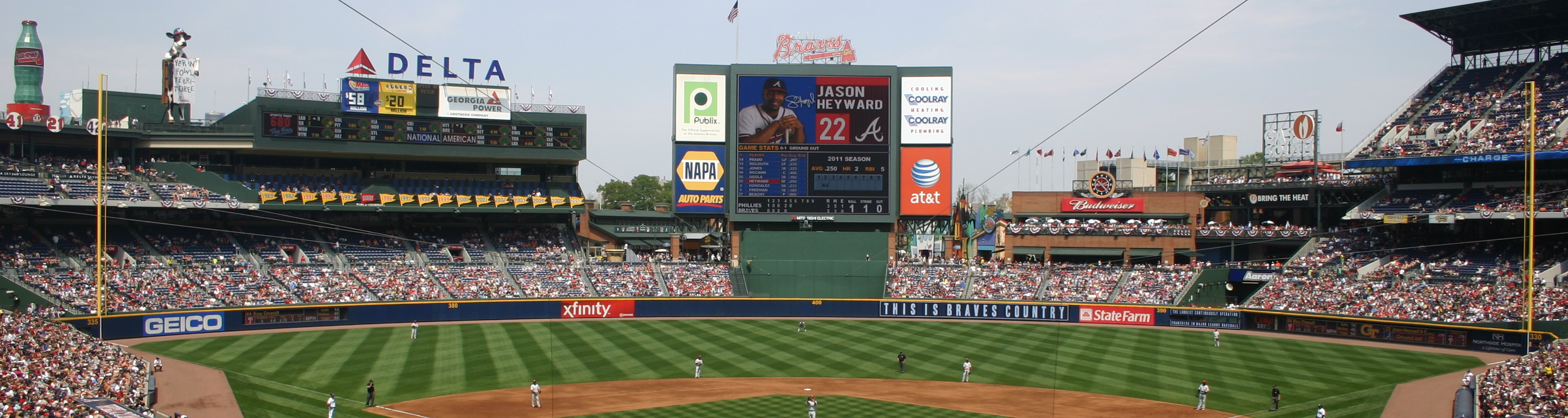 Turner Field,Atlanta,southeast baseball tours,family vacation packages