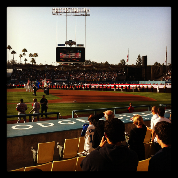 Dodger Stadium from our seats
