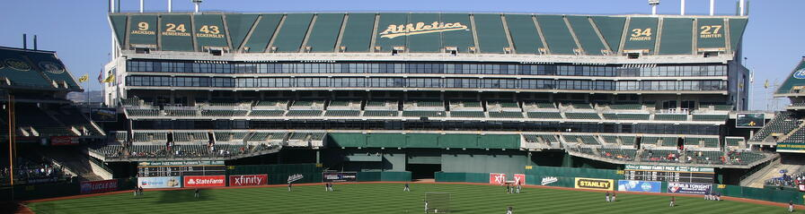 Oakland Coliseum,baseball trips,baseball tours,west coast baseball tours