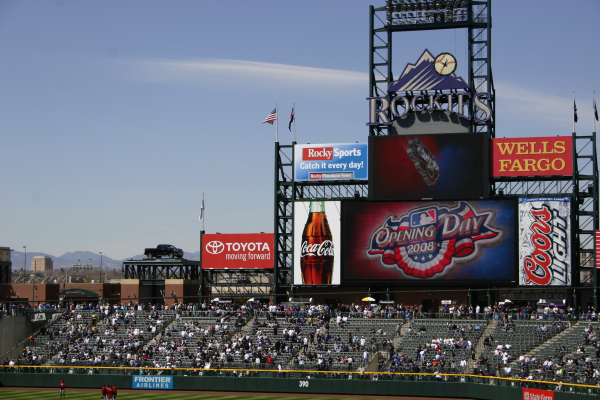 Opening Day at Coors Field