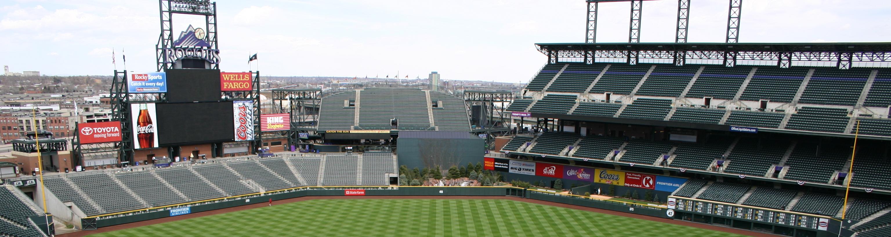 Coors Field, Denver, baseball trips
