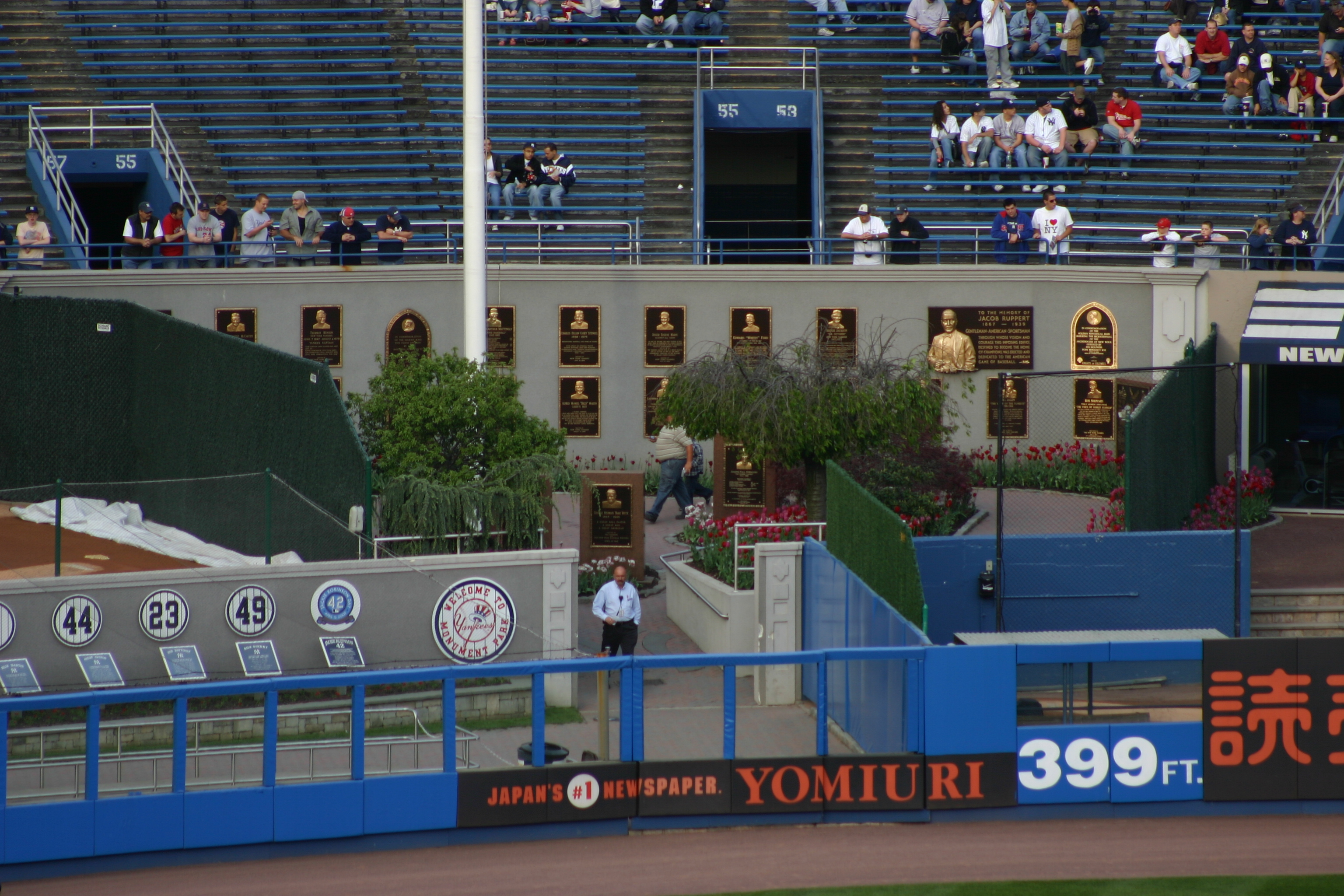 View of Monument Park