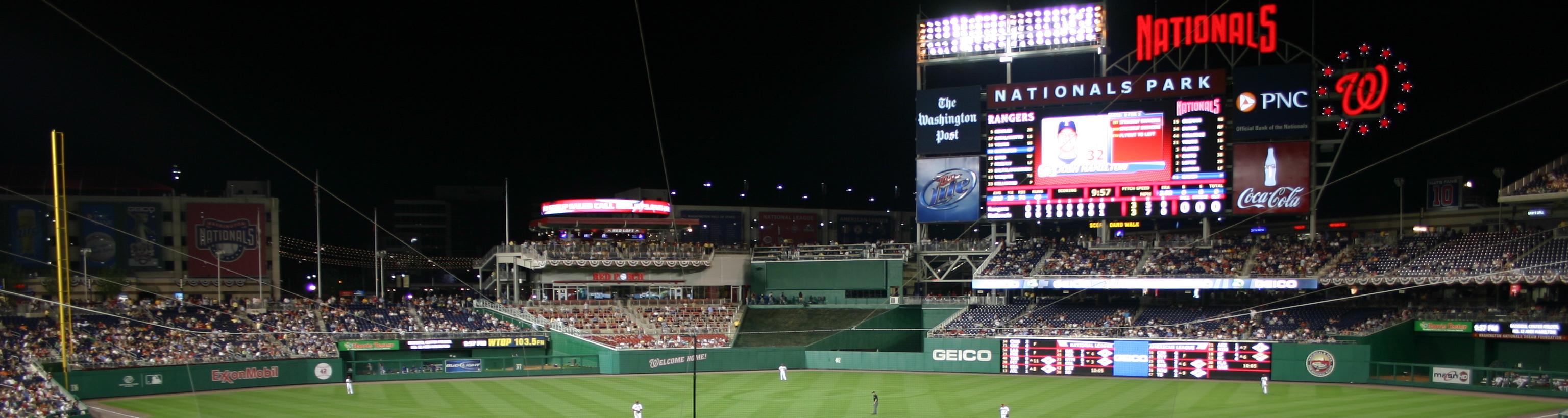 Nationals Park,east coast baseball tours,baseball trips