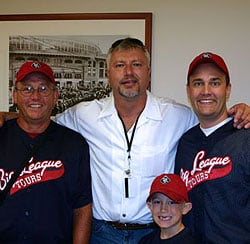 Ron Kittle with Founder, Glenn Dunlap, and his dad and son.