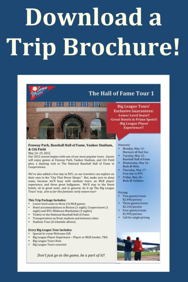 East Coast Baseball Trip Brochure