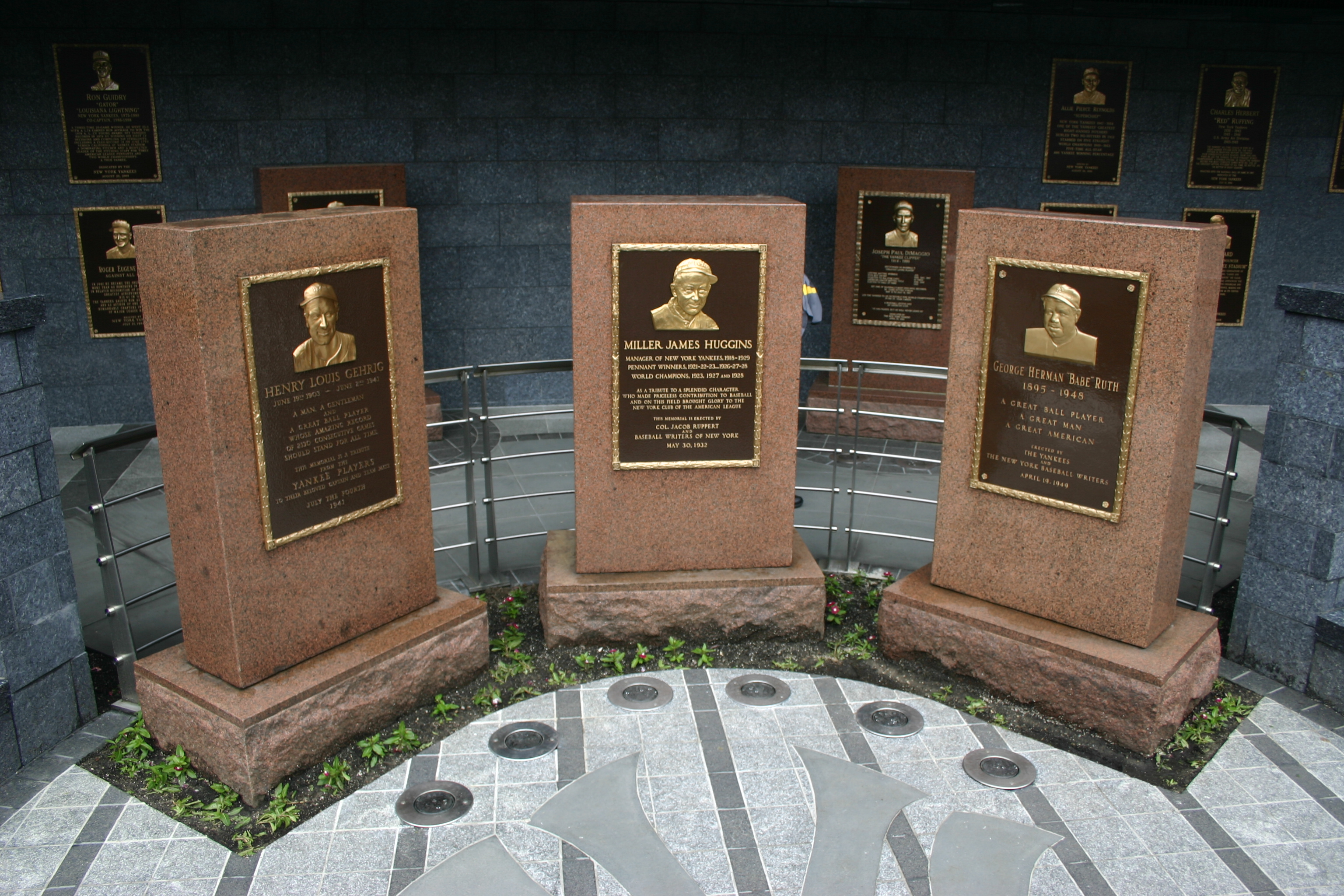 Monument Park at Yankee Stadium
