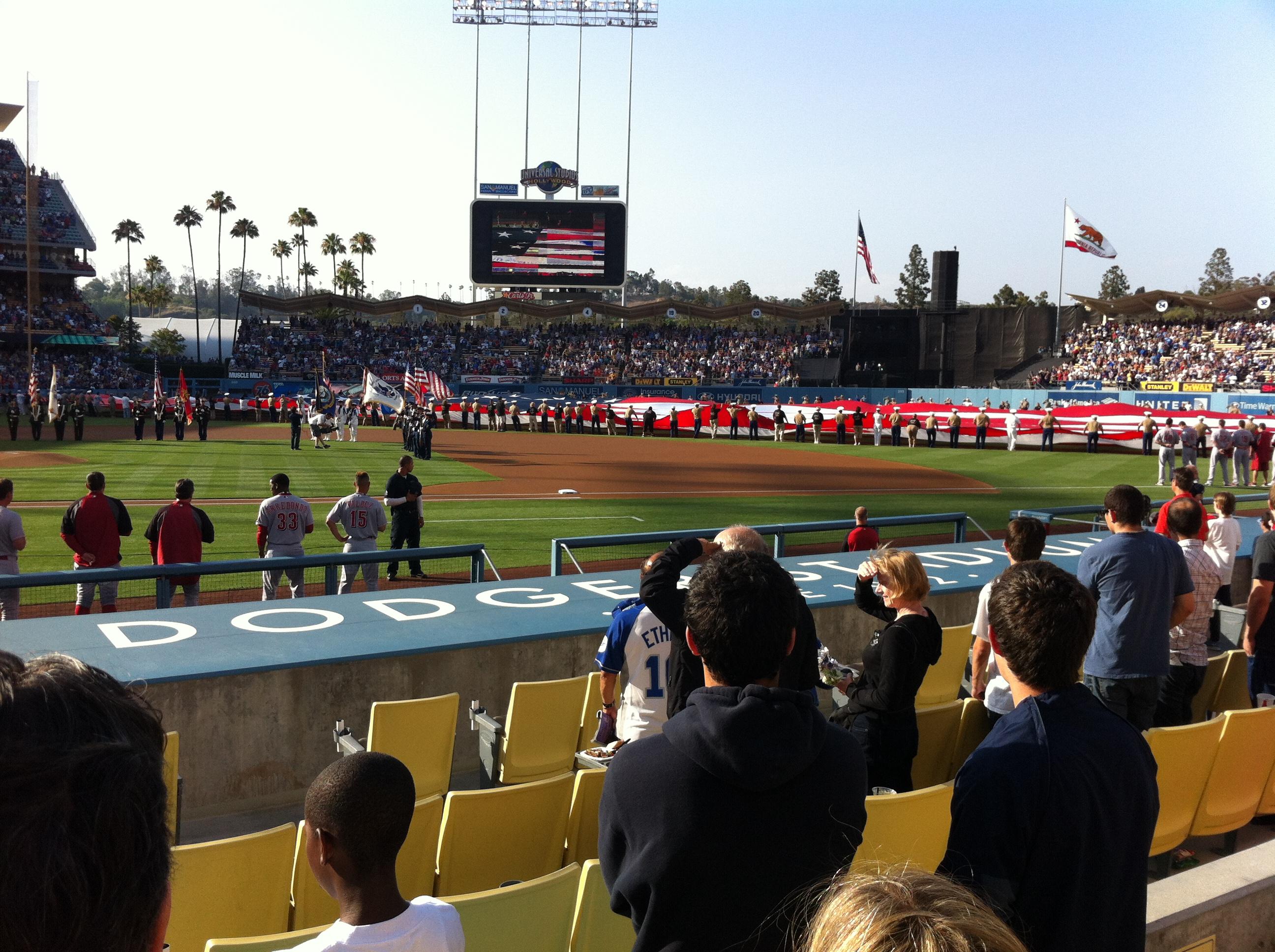 Dodger Stadium,west coast baseball tours,baseball tours