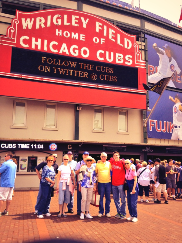 Midwest Tour guests at Wrigley Field