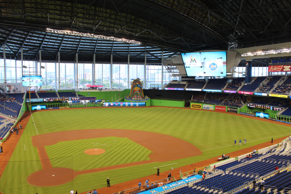 View of Marlins Ballpark