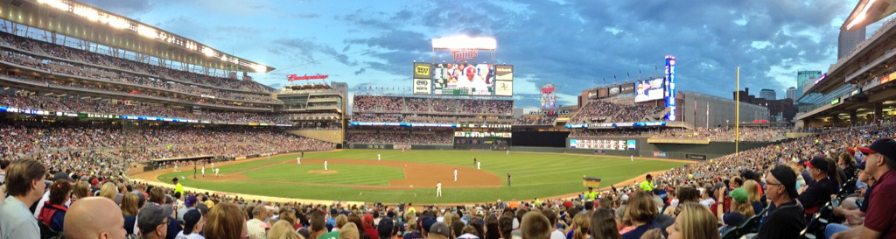 Target Field panorama, Twins, Minneapolis