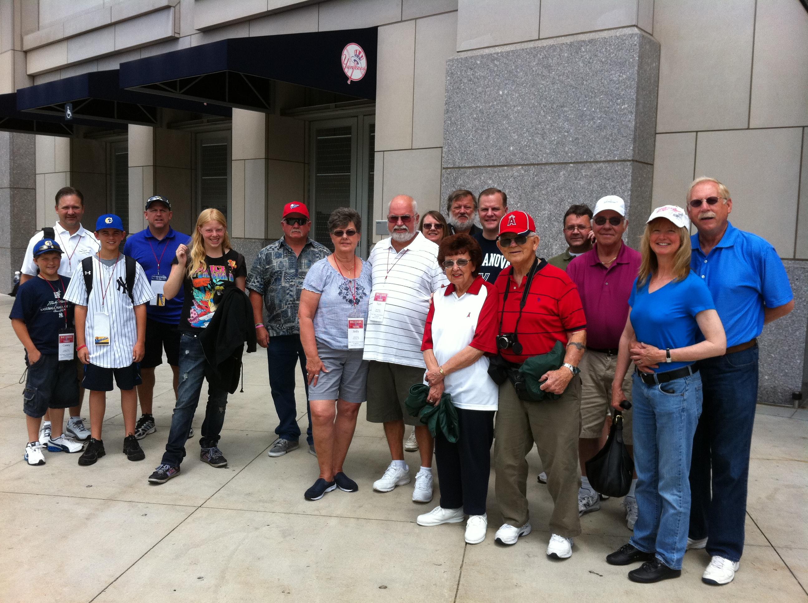 Yankee Stadium,group tours,baseball stadium tours,baseball trips,baseball road trips