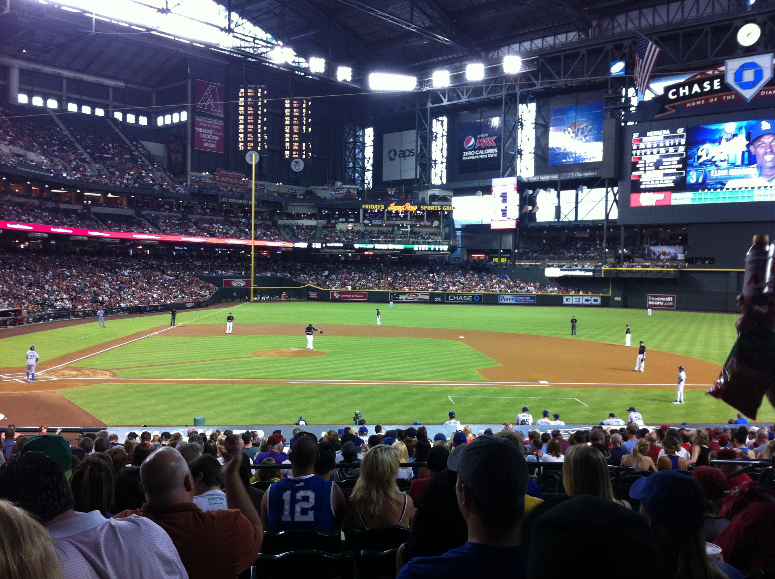 Chase Field, Phoenix, Diamondbacks, Baseball stadium, baseball trips, baseball tours