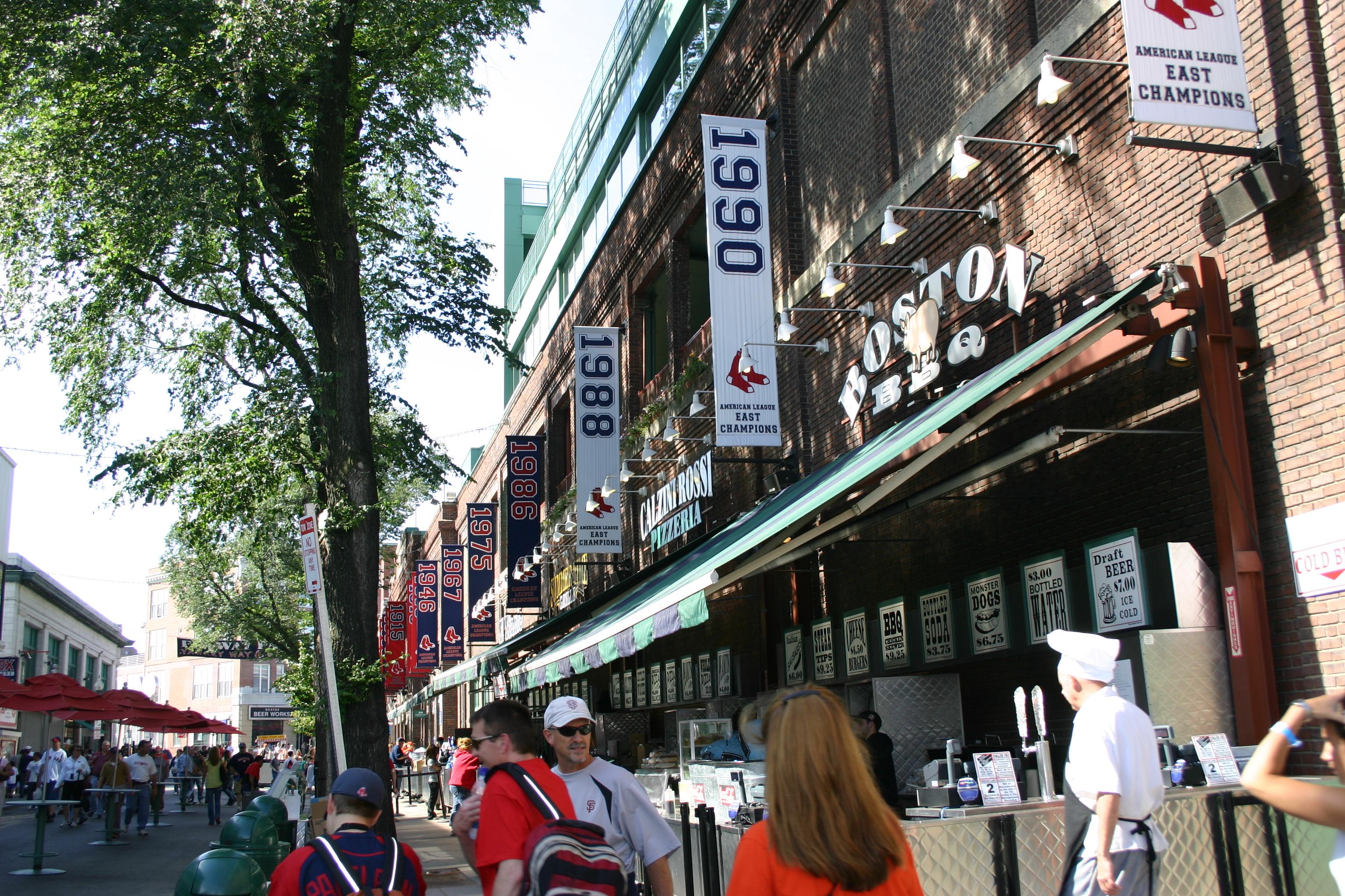 Fenway Park,Yawkey Way,Red Sox,Boston,baseball trips