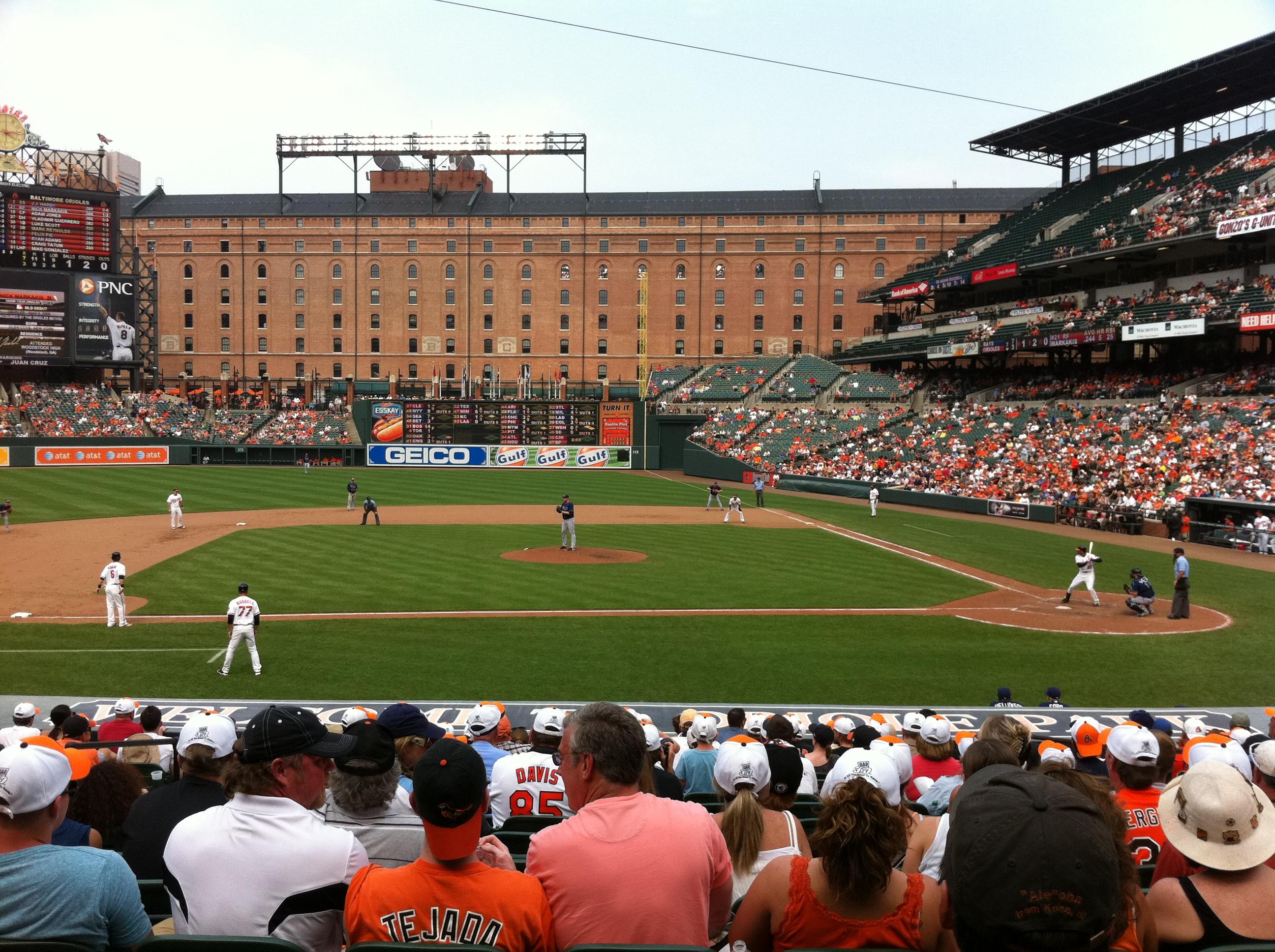 Oriole Park at Camden Yards,Baltimore baseball tour,baseball road trip