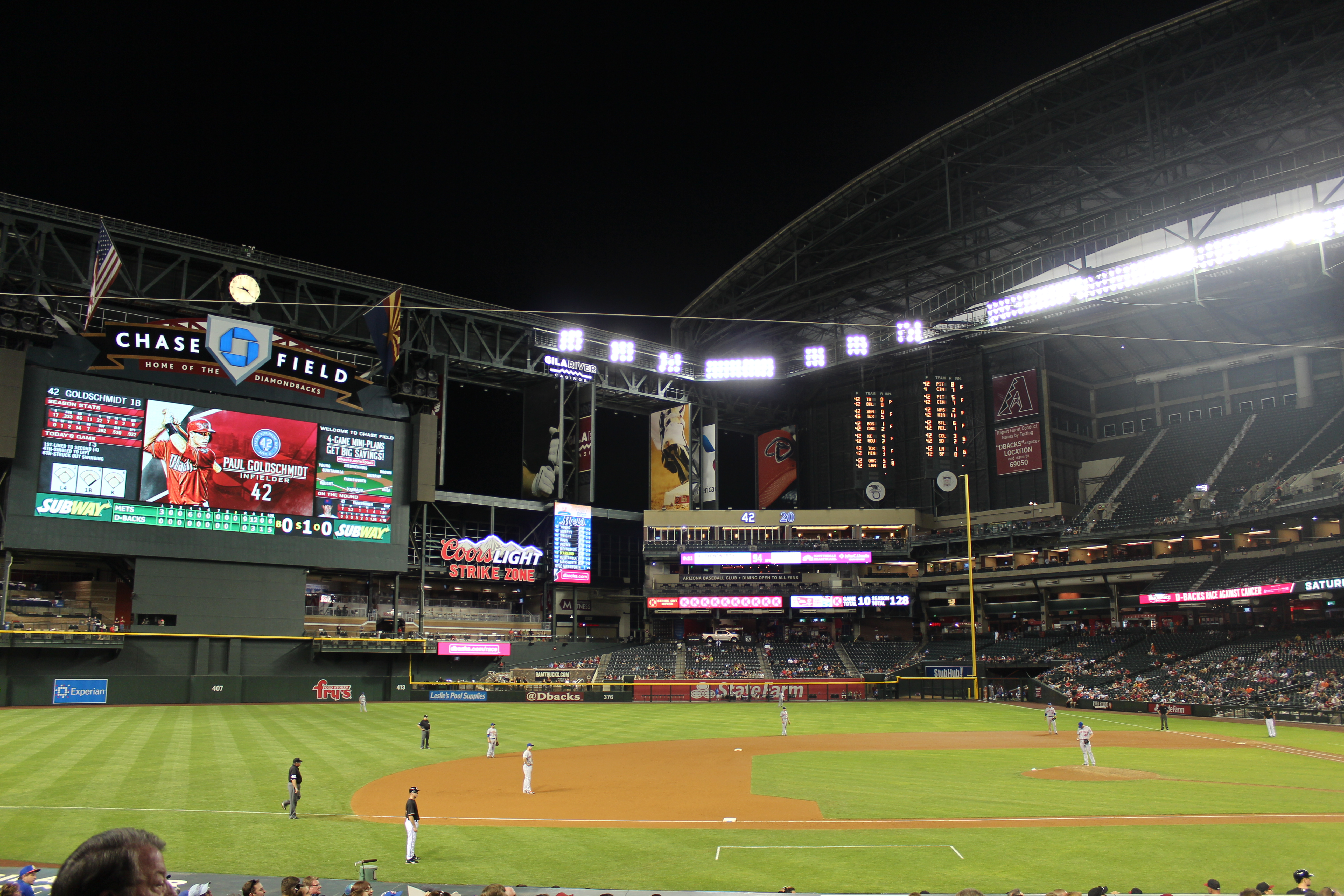 Chase Field from the seats on our baseball tour