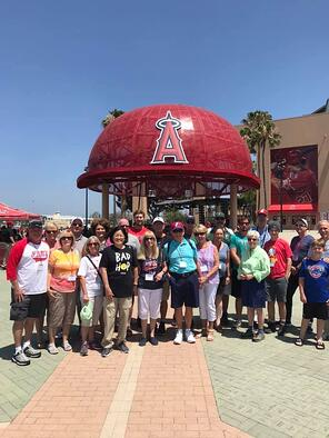 Guests at Angels Stadium